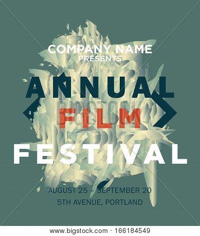 Web Banner Or Print Poster For Annual Film Festival