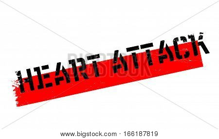 Heart Attack rubber stamp. Grunge design with dust scratches. Effects can be easily removed for a clean, crisp look. Color is easily changed.