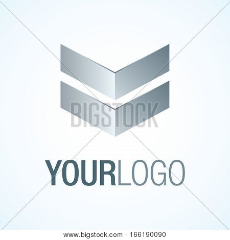 Elegant logo template for your business on a whie background.