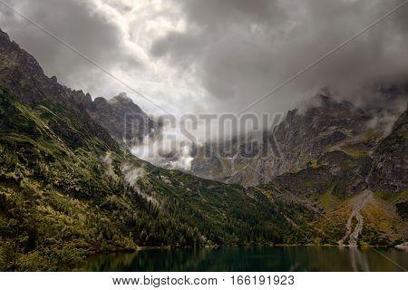 Morskie Oko Lake in Tatra mountains Poland