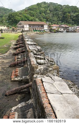 the historical Fort Jeronimo in Portobelo Panama