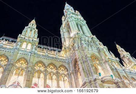 The Rathaus is the city hall of Vienna constructed from 1872 to 1883 in a Neo-Gothic styleit houses the office of the Mayor of Vienna as well as the chambers of the city council.