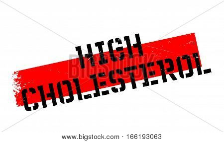 High Cholesterol rubber stamp. Grunge design with dust scratches. Effects can be easily removed for a clean, crisp look. Color is easily changed.