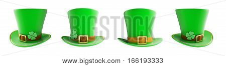 St. Patrick's day green hat 3d illustration