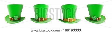 St. Patrick's day green hat 3d illustration