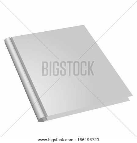 vector book design template isolated on white background