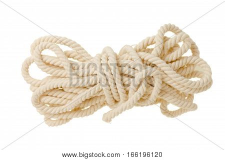 The bright rope isolated on a white background