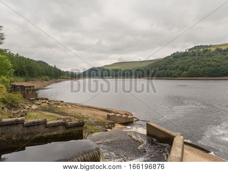 """During the Second World War Derwent Reservoir was used by the 617 Squadron for practising the low-level flights needed for the """"Dam Busters"""" raids poster"""