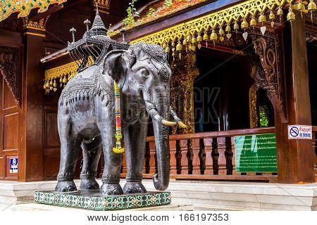 Chiang Mai, Thailand - December 3, 2016 :  Wat Doi Suthep