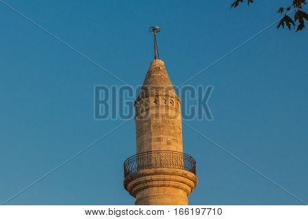 Old ruined Minaret in Rethymno, Crete, Greece