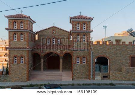 Rethymno, Greece - July  28, 2016: Orthodox Church