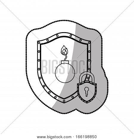 Bomb Explosion weapon icon vector illustration graphic design