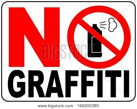 No graffiti symbol No aerosol spray sign, No alcohol sign vector illustration, red prohibition circle, for wall, buildings, public places.