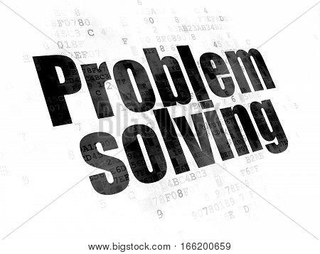 Finance concept: Pixelated black text Problem Solving on Digital background