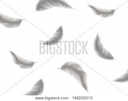 Hand drawn feather pattern background texture - Watercolor painting