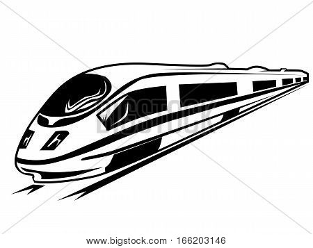Electro Train Isolated On White