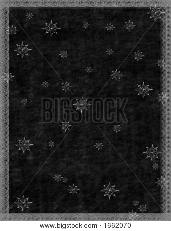 Scrapbook Page Background - Nighttime Snowflakes