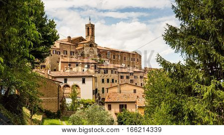 Exterior View Of Buildings In The Medieval And Renaissance Town Montepulciano