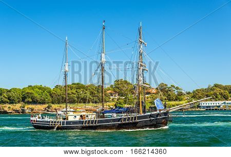 Vintage windjammer in Sydney Harbour - Australia, New South Wales
