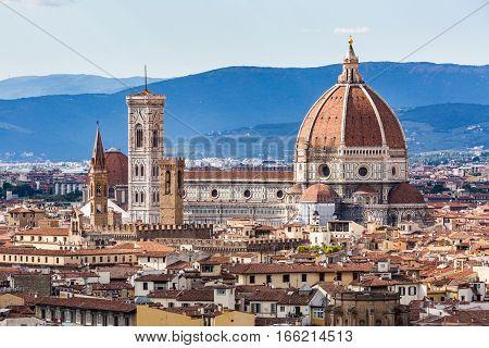 View Of Florence Cityscape Overlook To Cattedrale Di Santa Maria Del Fiore