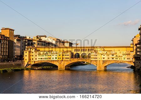 View Of The Ponte Vecchio In Florence, Italy