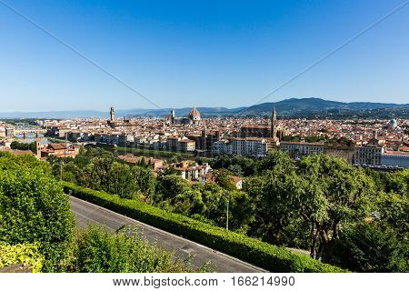 View To The City Of Florence From Michelangelo Square