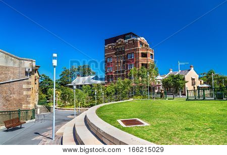View of Barangaroo District in Sydney - Australia, New South Wales
