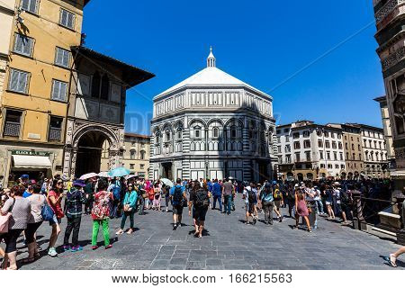 Exterior View Of The Florence Baptistery