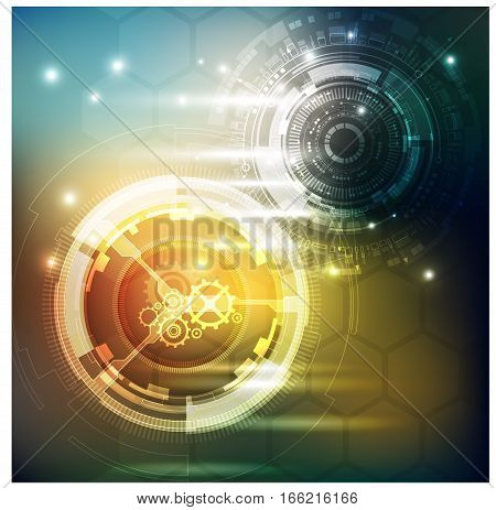 abstract background digital tech innovation concept. sci fi scientific design tech innovation concept background.