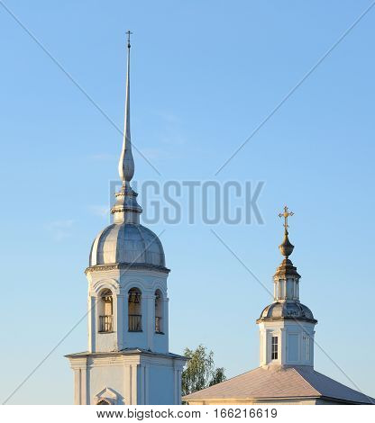 Alexander Nevsky Church - Orthodox church in Vologda an architectural monument of regional significance of the XVIII century Russia.