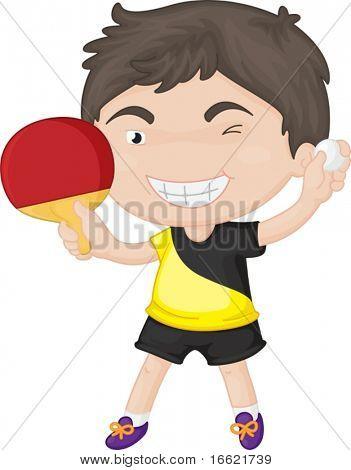 Illustration of playing boy