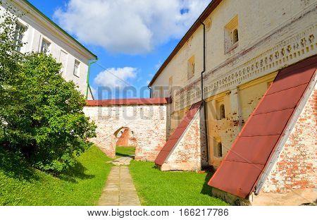Building in Kirillo-Belozersky monastery in Vologda region Russia.