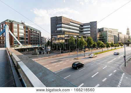 Exterior View Of The Deutsche Bundesbank Headquarters Building In Hamburg