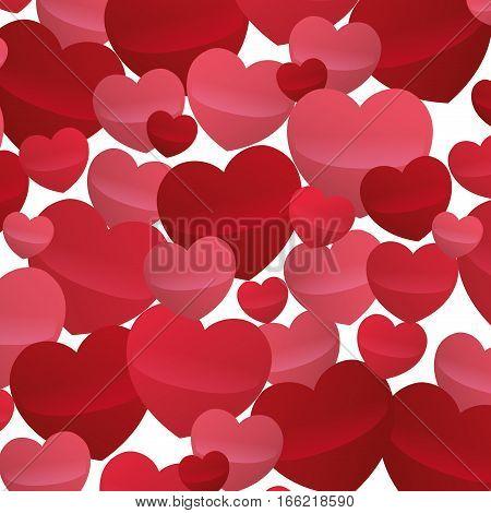 many hearts love decoartive valentine day design vector illustration eps 10