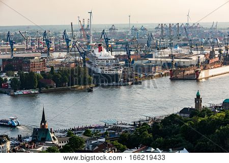 Overlook To The Old Town Part Of Hamburg, Germany
