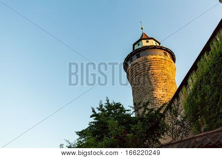 Exterior View Of The Nuremberg Castle In Nuremberg