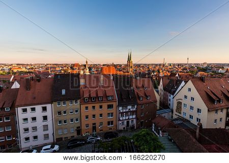 Overlook From The Nuremberg Castle To The Nuremberg Old Town Part
