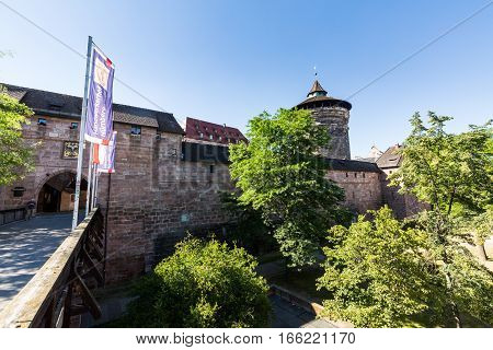 View Of Frauentorturm In The Old Town Part Of Nuremberg