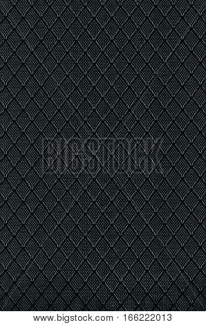 Black Nylon Fabric Background Texture, Large Detailed Textured Vertical Macro Closeup Pattern, Textile Copy Space