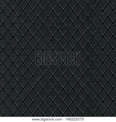Black Nylon Fabric Background Texture, Large Detailed Textured Macro Closeup Pattern, Textile Copy Space