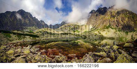 Batyzowieckie Lake in Tatra mountains under Gerlach Slovakia
