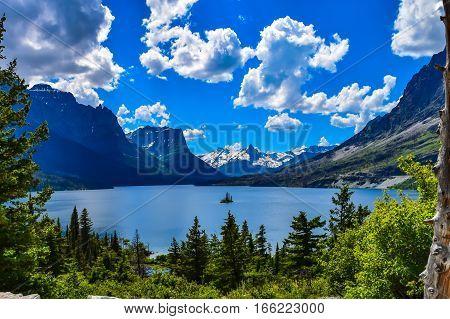 Small Island in a Vast Mountain Range