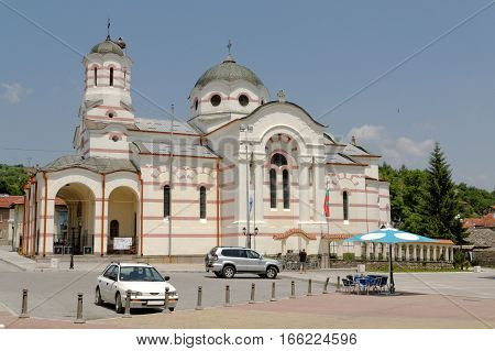 The Assumption of the Virgin Mary church in the town of Batak Bulgaria. Its construction started in 1912.