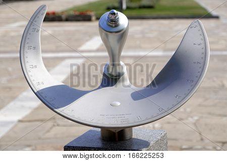 Precise sun clock dial in the town of Panagyurishte Bulgaria
