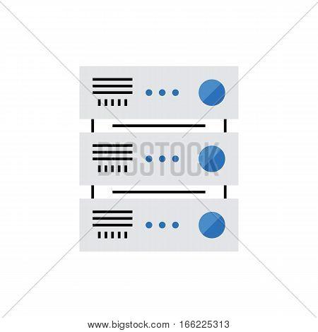 Server Monoflat Icon.