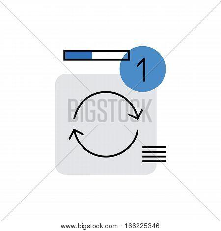 Data Sync Monoflat Icon