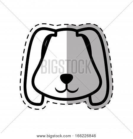 face puppy animal pet ear long dot line shadow vector illustration eps 10