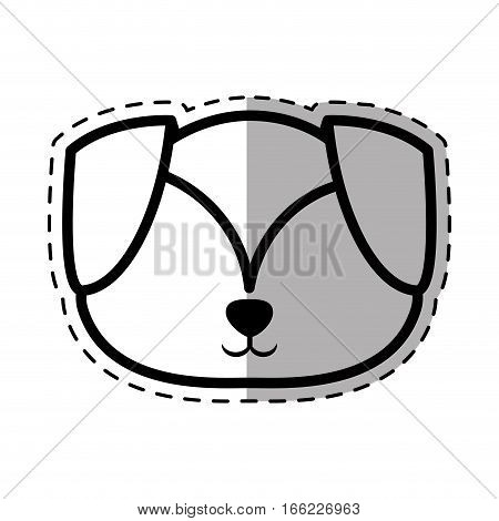 face puppy adorable pedigree dot line shadow vector illustration eps 10