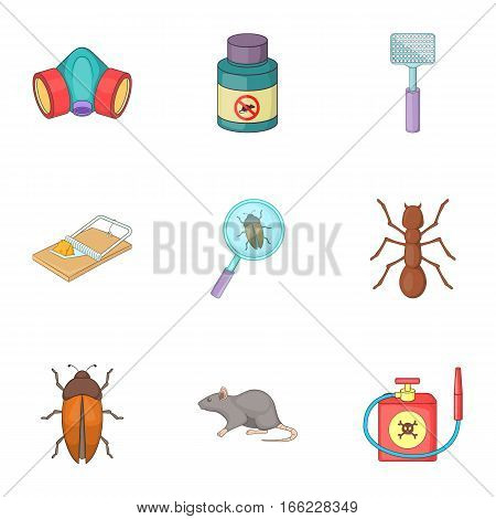 Disinfection icons set. Cartoon illustration of 9 disinfection vector icons for web poster