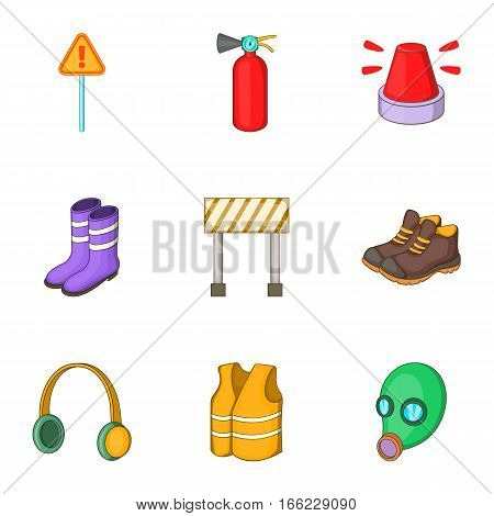 Roadworks icons set. Cartoon illustration of 9 roadworks vector icons for web